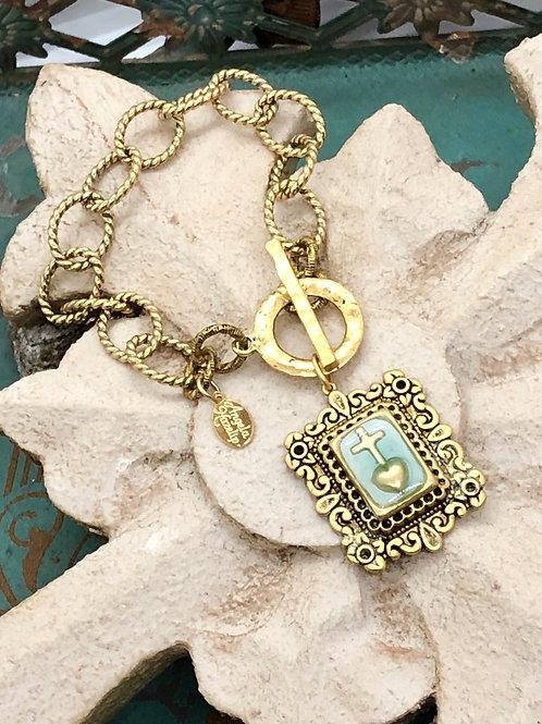 Bonton Farms Line: God Wants My Heart bracelet