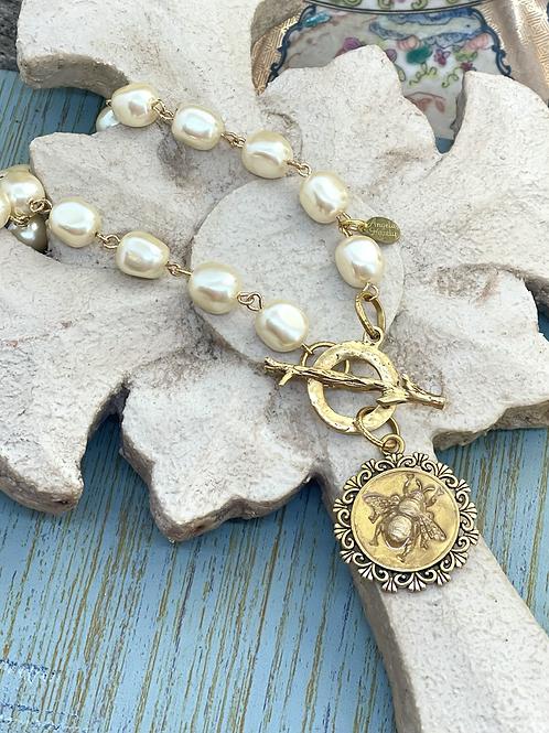 Bonton Farms Line: Vintage Golden Bumbles necklace