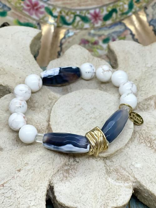 Riverstone and Sodalite bracelet