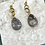 Thumbnail: Fossilized Coral Teardrop Dangles