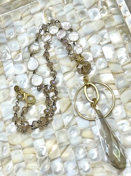 Charming Crystals and Pearls necklace