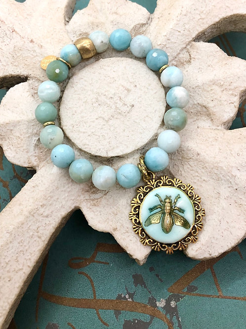 Bonton Farms Line: Honey Bee Blues bracelet