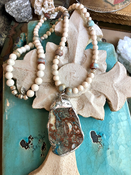 Soldered Ocean Agate Necklace