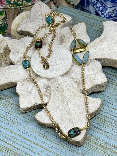 Czech Blues Necklace