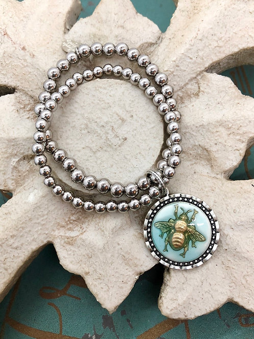 Bonton Farms Line: Silver Bumbles Bracelet