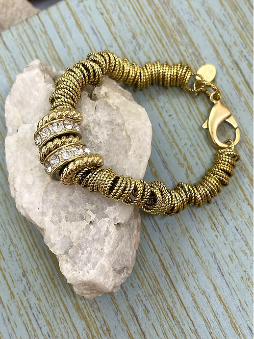 Links and CZ's Bracelet