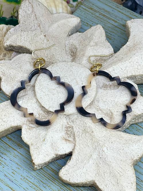 Quatrefoil Tortoise earrings