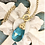 Thumbnail: Bonton Farms Line: Gold Leaf Bumbles in Turquoise  necklace