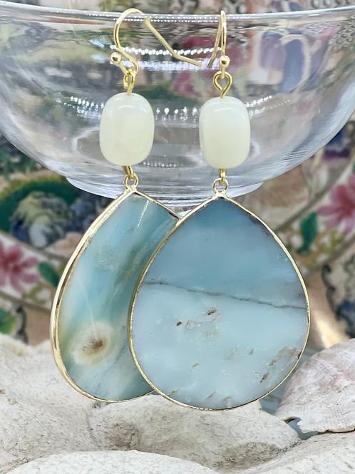 Amazonite Ocean Earrings