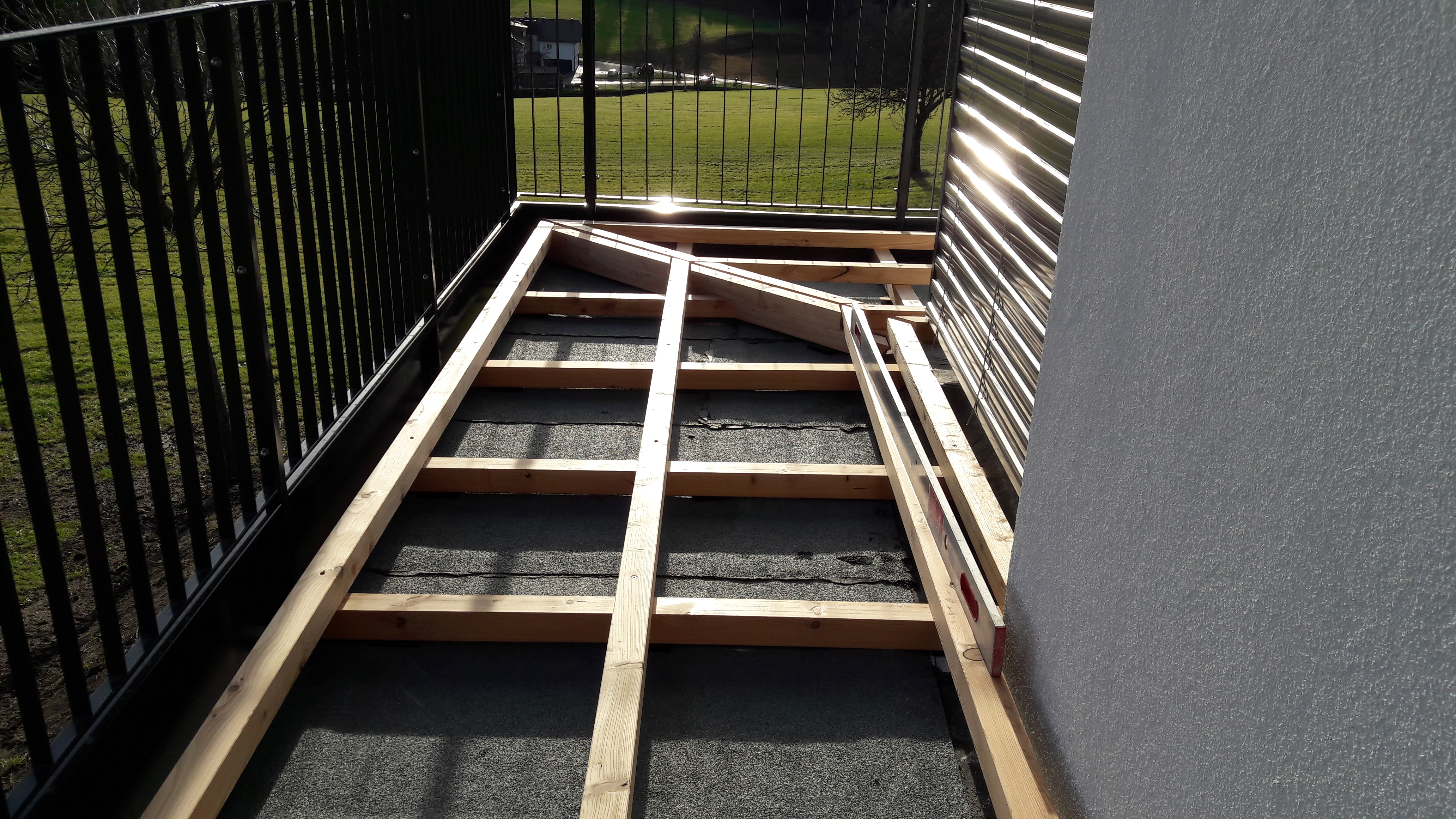 Terrasse Lärche Unterkonstruktion