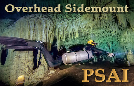Cave diving in sidemount configuration