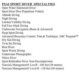 PSAI Specialty Instructor Programs