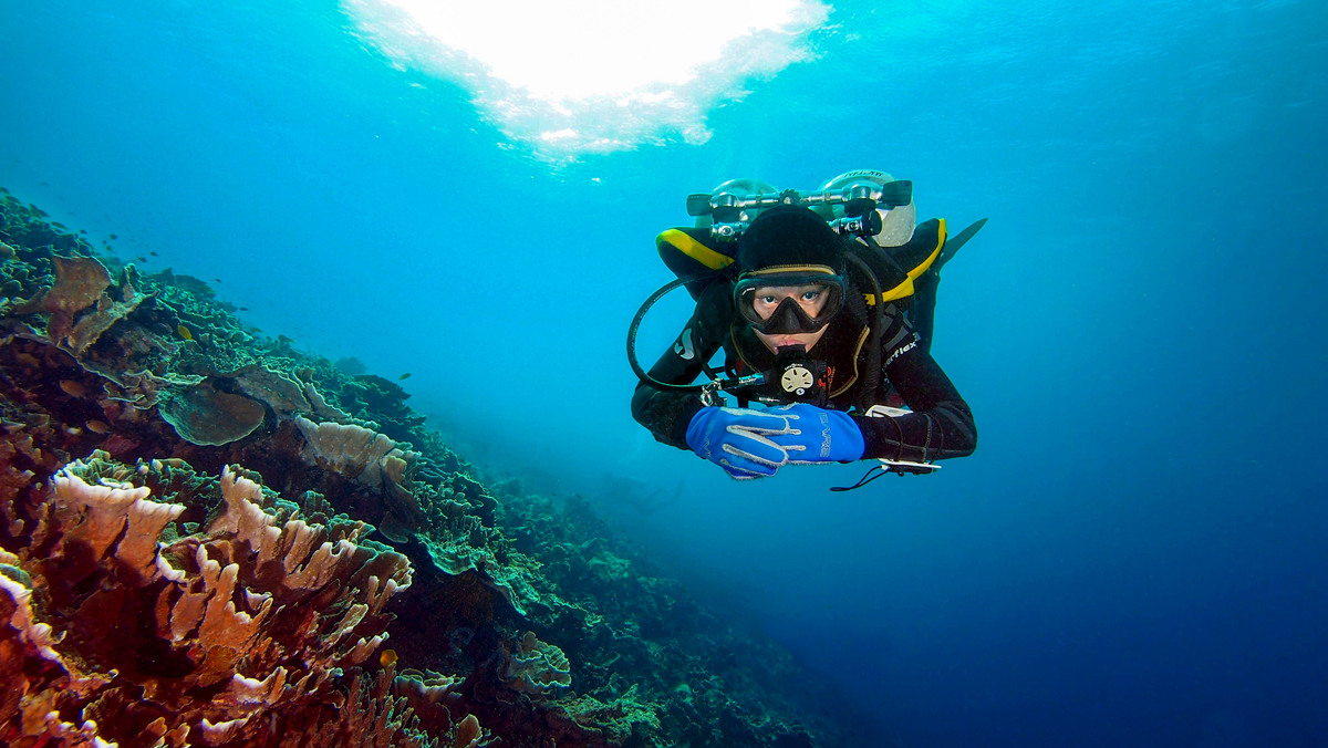 Certified Technical Diver hovering