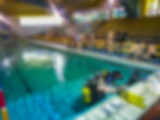Scuba dive training at Chi Fu Fa Yuen swimming pool, Hong Kong Island