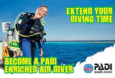 Become a PAI Enriched Air Diver - Extend your diving time