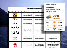 Link to Weather information and notices for Hong Kong scuba diving