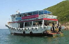 水肺潛水船 - Link to boat schedules and fun diver rates.