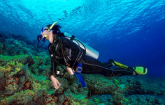 Recreational scuba diver