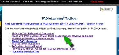 PADI eLearning Toolbox