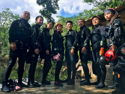 Certified cave divers