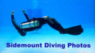 Sidemount diver inverted.