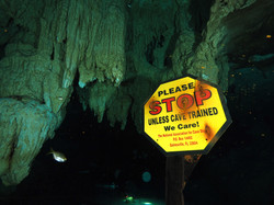 Certified cave divers only