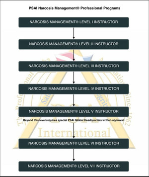 PSAI Narcosis Management Instructor Flowchart