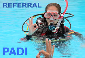 Scuba diving pool practice
