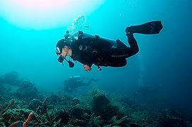 Scuba diver in horizontal trim