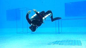 Sidemount diving training