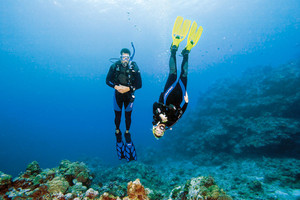 Peak Performance Buoyancy course - Divers hovering