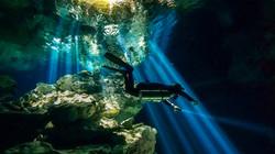 Diver at Taj Mahal Cenote