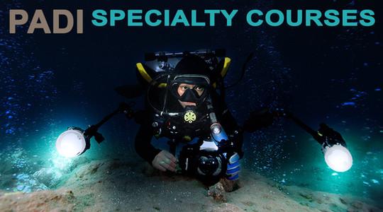 Underwater Photographer at Night