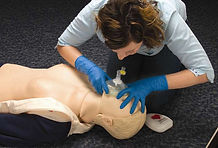 Rescue Breaths with a pocket mask - EFR Primary Care course.