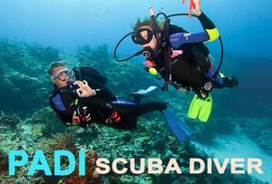 PADI Scuba Diver Course is a pre-entry level scuba certification - a limited license.