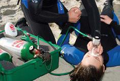 Diver receiving Emergency Oxygen