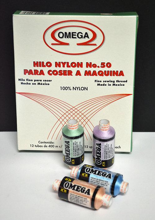 Nylon Omega No. 50 tubo 400m.