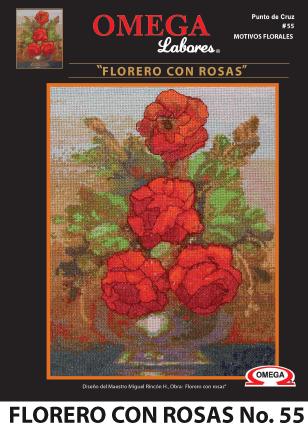 No. 55  Florero con Rosas