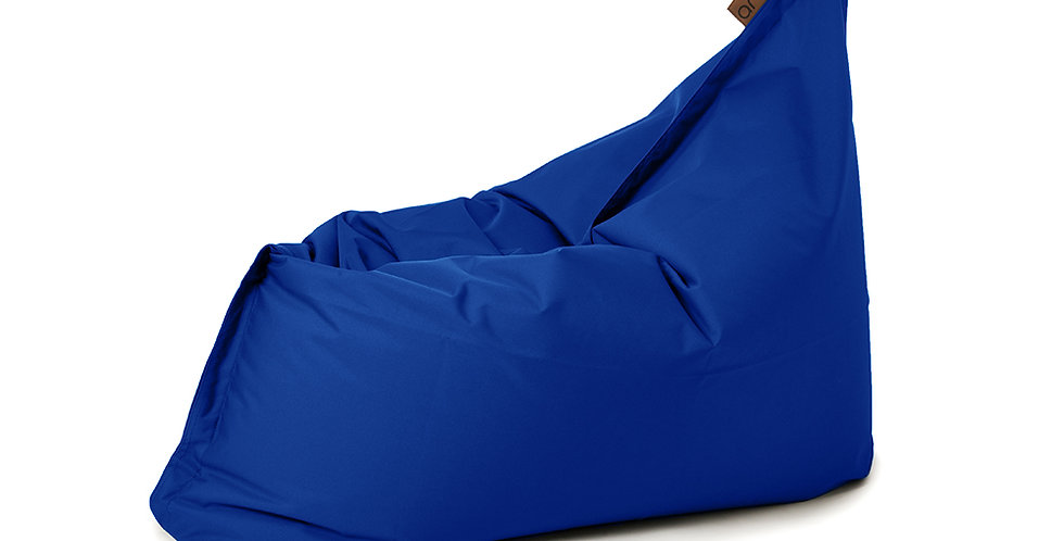 bean bag adulte bleu vue de côté
