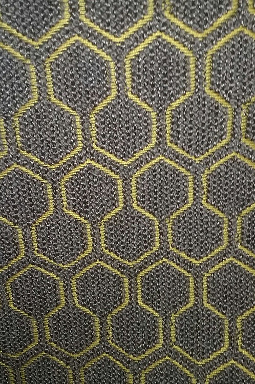Modern Gray Brown Gold Print Fabric Upholstery
