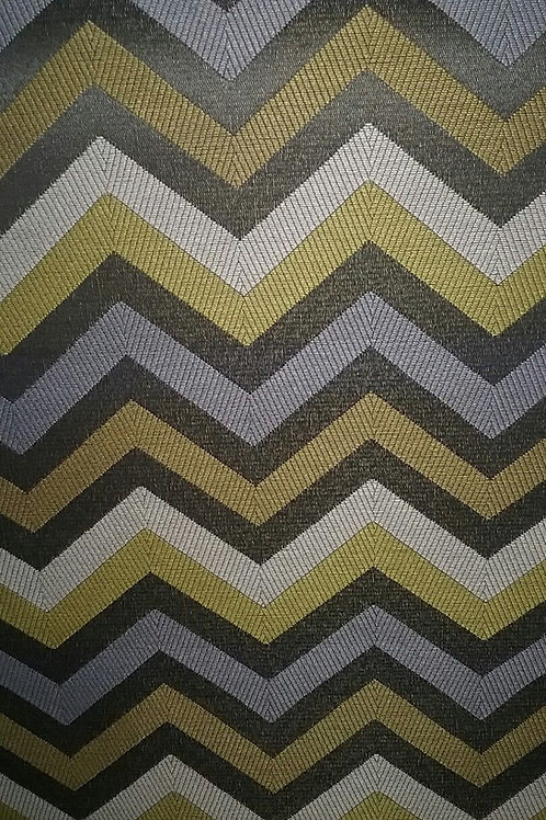 Gray, Taupe, Gold and Cream Chevron Pattern Fabric Upholstery