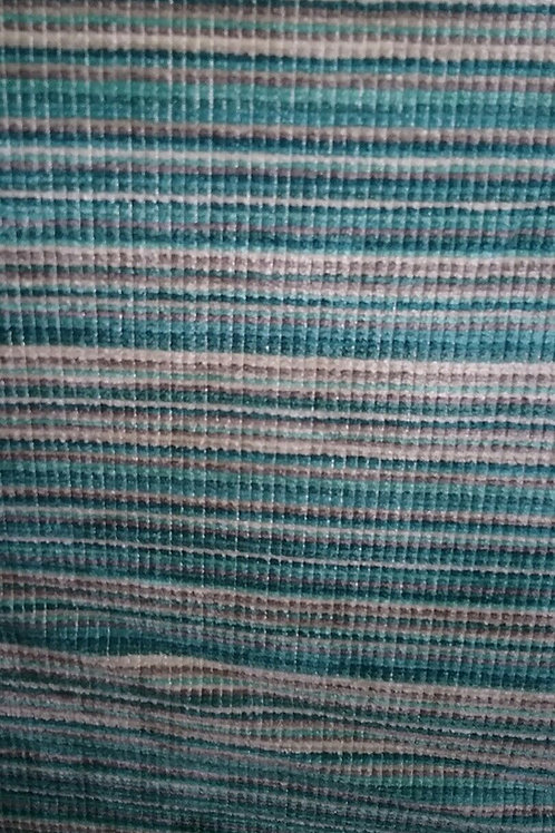 Blue, Brown, Tan, Cream Color Stripes Fabric Upholstery