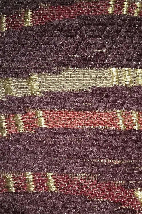 Brown, Tan, Red, Gold, Stripe Pattern Fabric Upholstery