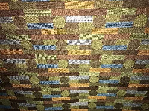 Geometric Print Fabric Upholstery