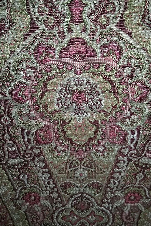 Paisely Brown Pink Print Fabric Upholstery