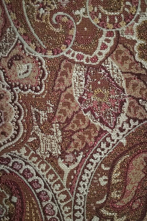 Paisley, Coral, Rust, Pink Print Fabric Upholstery
