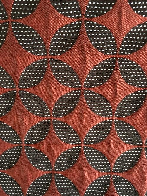 Star Print Orange Fabric