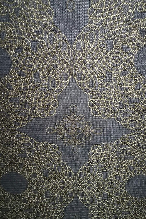 Gray Gold Print Fabric Upholstery