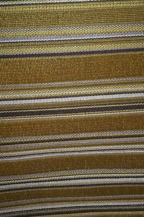 Chartreuse Striped Velvet Like Fabric Upholstery