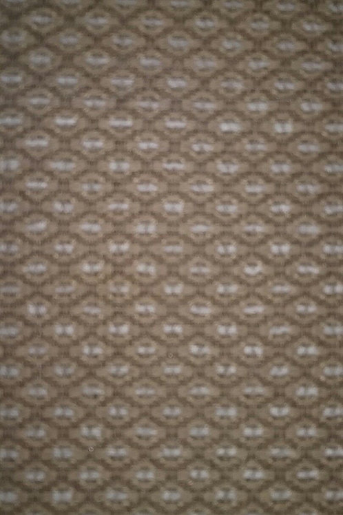 Diamond Pattern Tan and Cream Fabric Upholstery